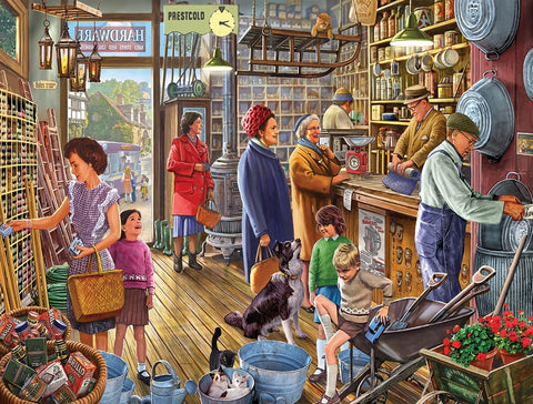 Made in the USA Jigsaw Puzzle - 550 Pc. - The Hardware Store - Amish Baskets and Beyond