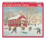 Made in the USA Jigsaw Puzzle - 1000 Pc. - The Olde Country School - Amish Baskets and Beyond