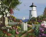 Made in the USA Jigsaw Puzzle - 1000 Pc. - To The Lighthouse - Amish Baskets and Beyond