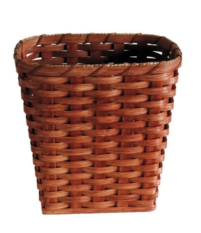 Amish Handmade Waste Basket - Small - Square - Amish Baskets and Beyond