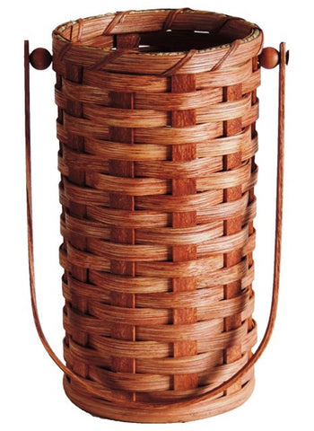 Amish Handmade Wine Carrier Basket - 1-Bottle - Amish Baskets and Beyond