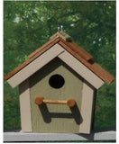 Amish Made Cedar Roof Bird House - Amish Baskets and Beyond