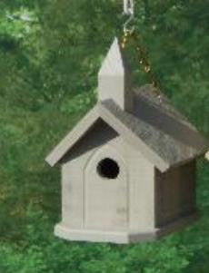 Amish Made Church Bird House - Amish Baskets and Beyond