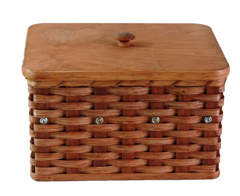 Amish Handmade Jewelry Box Basket - Amish Baskets and Beyond