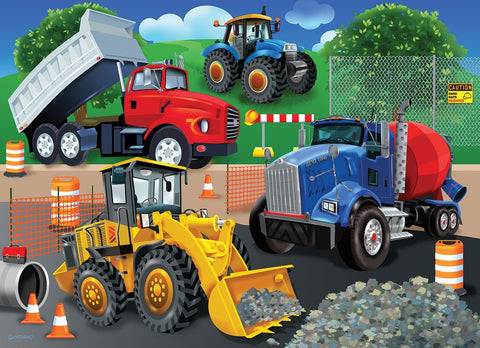 Made in the USA Jigsaw Puzzle - 24 Pc. - Trucks & Tractors