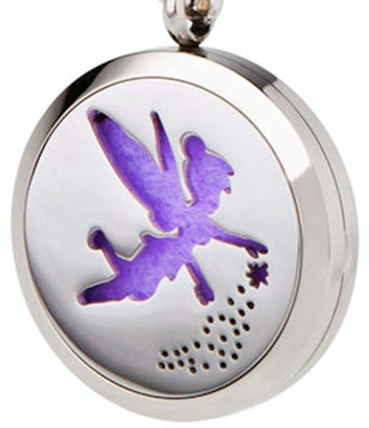Stainless Steel Essential Oil Diffuser Necklace (Fairy)