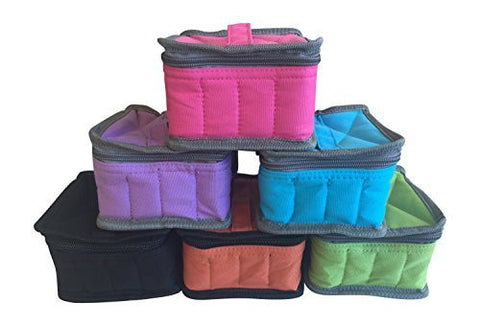 WHOLESALE Essential Oil 16 Bottle Padded Zipper Travel Case (SET OF 5)