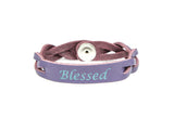 Leather Essential Oil Diffuser Bracelet BLESSED