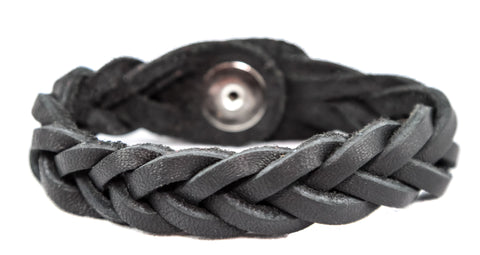 WHOLESALE Essential Oil Leather Braided Bracelets (100 Assorted Colors & Sizes)