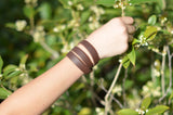 Triple Wrap Genuine Leather Essential Oil Diffuser Bracelet