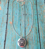 Silver Colored Essential Oil Diffuser Necklace