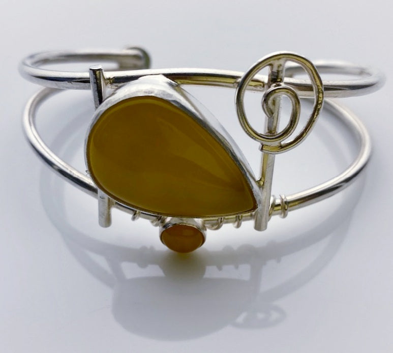 Yellow Agate Cuff by Sistaphyre