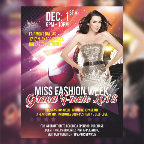 Miss Fashion Week Grand Finale Event 2018