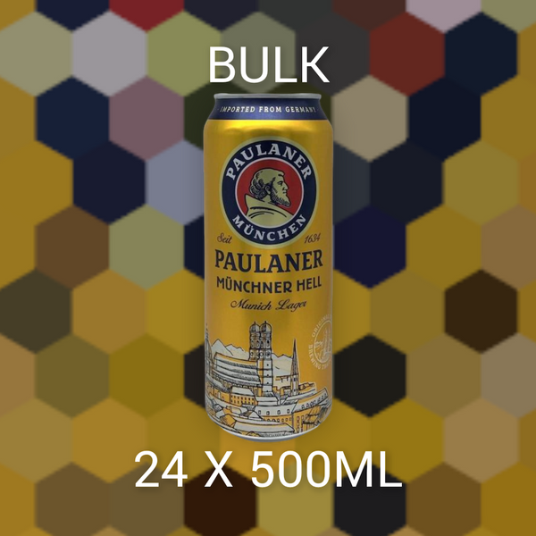 BULK Paulaner Munchner Hell CAN 24x500ml