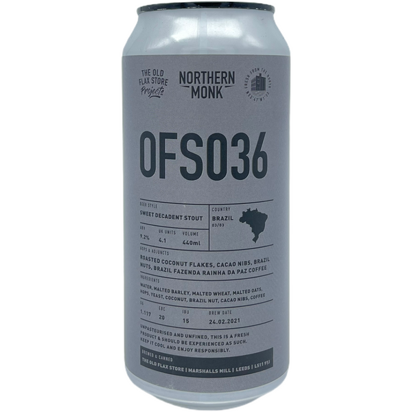 Northern Monk OFS036 // SWEET DECADENT STOUT // BRAZIL