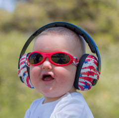 BANZ Stars & Stripes Earmuffs and Sunglasses - Military Discount