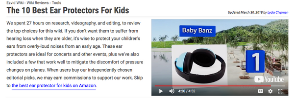 Wiki.ezvid.com Top 10 Ear Protectors for Kids - Banz Infant Hearing Portection Number One Best Earmuffs for Kids