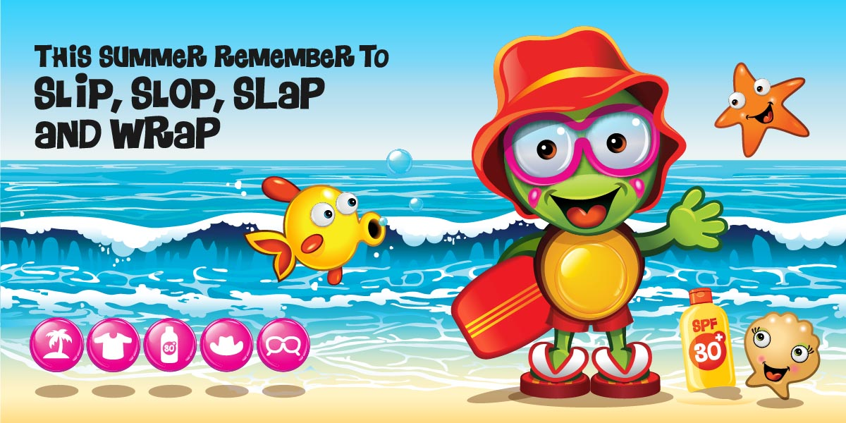 Slip, Slop, Slap and Wrap with Undercover Cody to stay Sun Safe