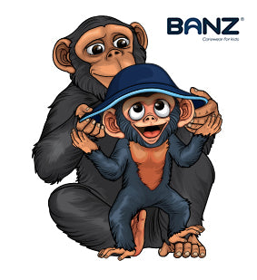 Banzee loves Banz UV Sun hats - so does Bubzee!