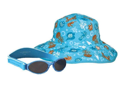BANZ Combo gift set Childrens Sun Hat and Sunglasses Gift Set