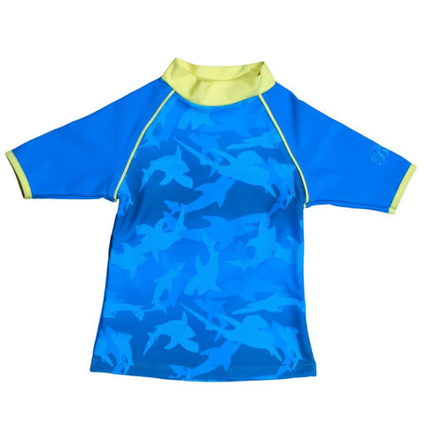 BANZ Rashguards 12 / Fin Frenzy Shark Boys 8-12 Short Sleeve Rashguards S13RS-FP-12