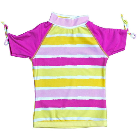 BANZ Rashguards 12 / Sun Blossom Stripe Girls 8-12 Short Sleeve Rashguards S13RS-SS-12