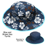 BANZ Sun Hat Baby / Blue/Brown Baby Reversible Sun Hats (Retiring) HRB002