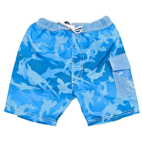 BANZ Swimsuit 00 / Fin Frenzy Pattern Baby Swim Boardshorts S13bs-fs-00