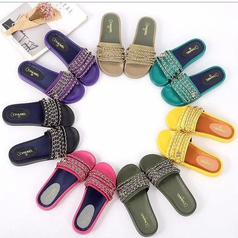 Coco Chain Link Slides - Wynning