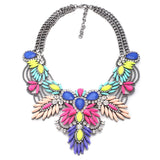 4 colors good quality  NEW style Fashion Vintage Unique collar pendant Chunky Necklace Statement Jewelry for Women necklace