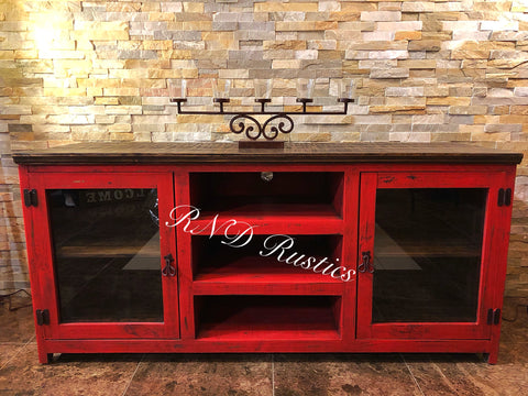 Glass Door Tv Stand