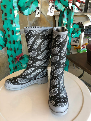Feather Rain Boots