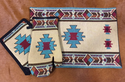 Turquoise Aztec Kitchen Series