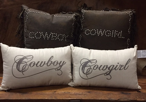 Cowboy and Cowgirl Accent Pillows