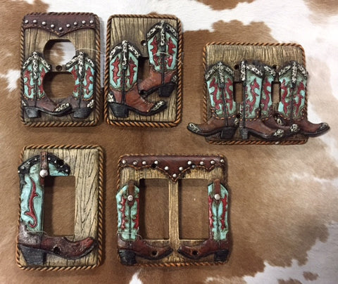 Turquoise Boot Wall Plates
