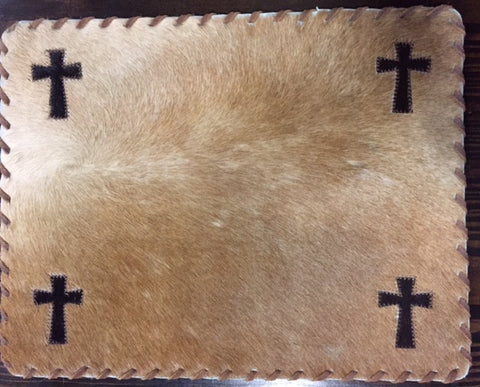 Cross Cowhide Placemat