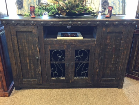 Iron Door Tv Stand