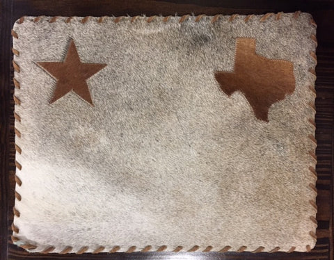 Star and Texas Cowhide Placemat