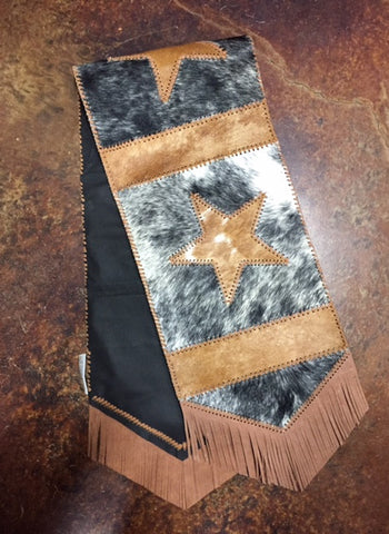 Star Cowhide Table Runner