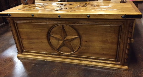 Custom Hand Carved Desk