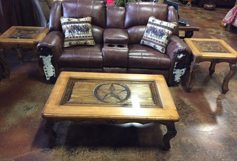 Hand Carved Coffee Table Set