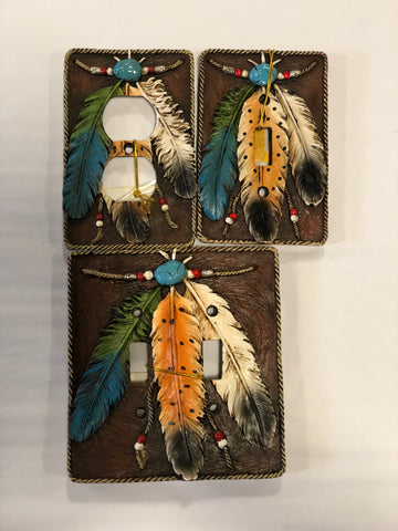 Feather Wall Plates