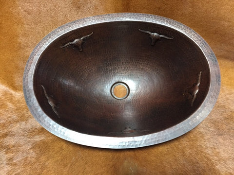 Oval Copper Longhorn Sink