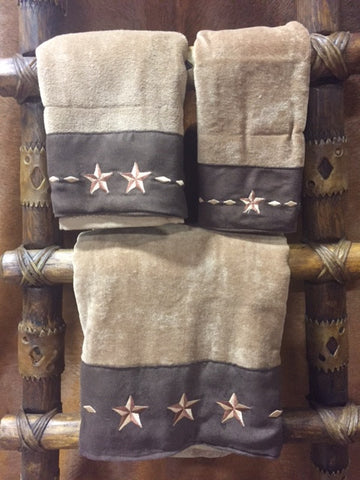 Three Piece Star Bathroom Towels