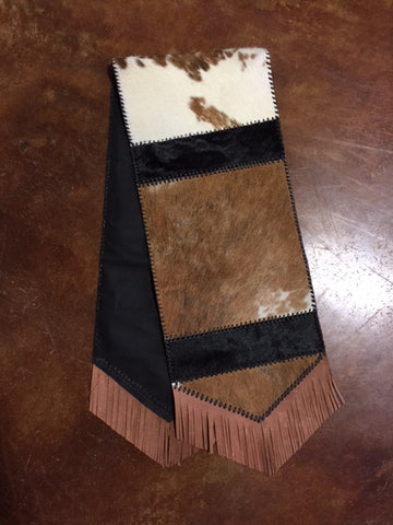 Plain Laced Cowhide Table Runner