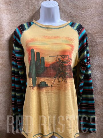Yellow and Serape Shirt