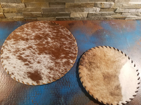 Cowhide Plain Laced Placemat