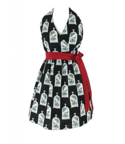 "Hemet ""The Raven"" Halter Dress"