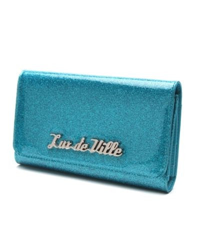Miss Lux Wallet Villain Blue Sparkle