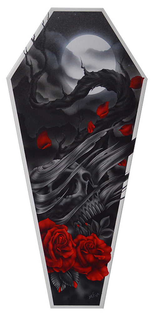 The Sad Truth Coffin Canvas Giclee By Aaron Cox